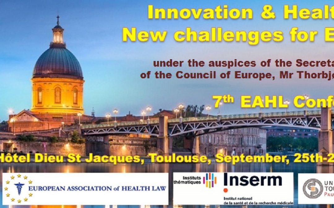 7a Conferenza della European Association of Health Law (EAHL)
