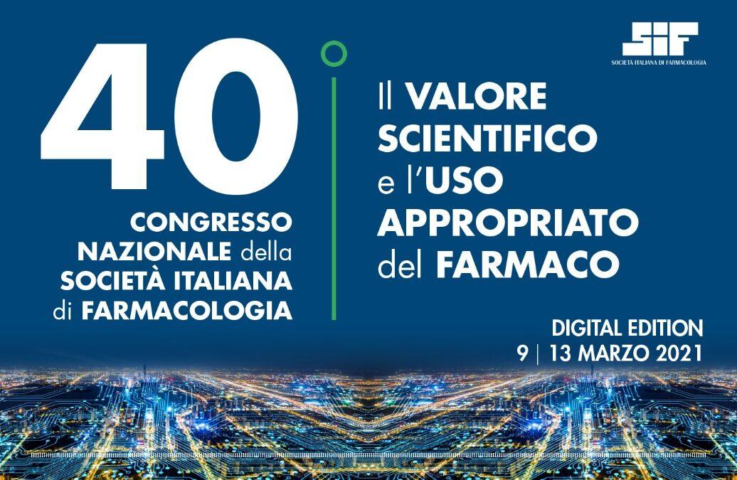 Fondazione Benzi presente al 40° Congresso Nazionale della Società Italiana di Farmacologia
