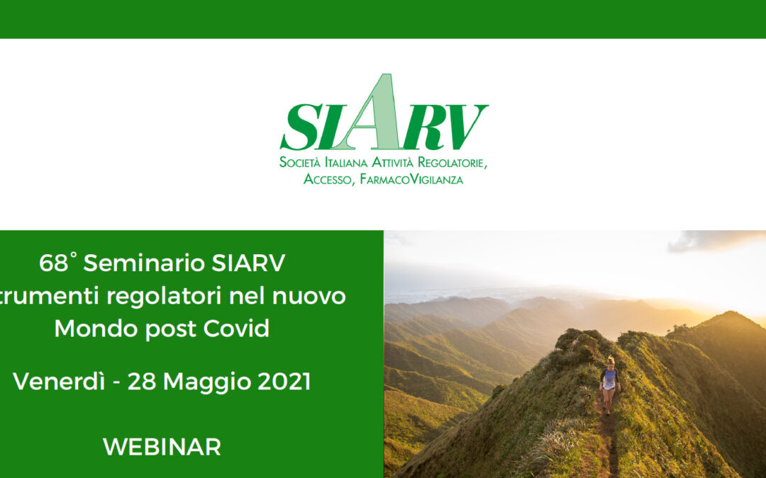 Save the date: 68th SIARV workshop